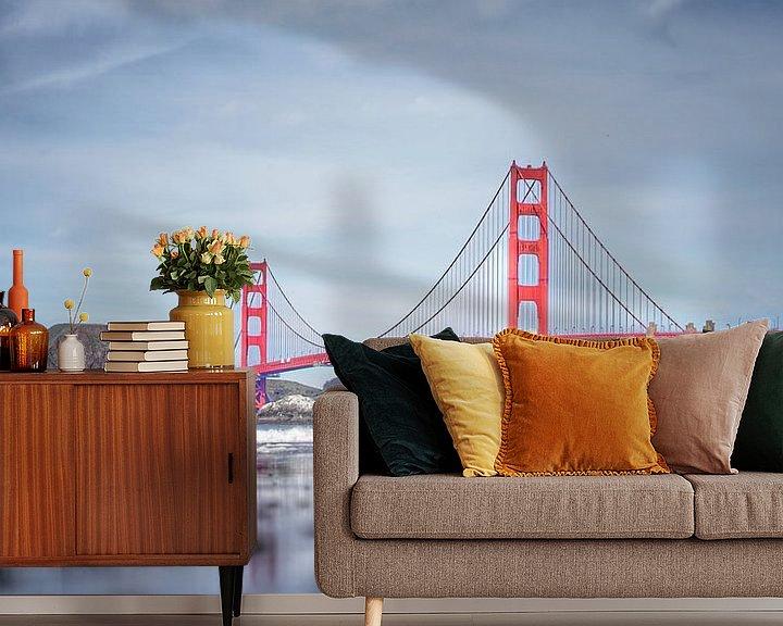 Beispiel fototapete: Die Golden Gate Bridge, San Francisco, Vereinigte Staaten von Joost Jongeneel