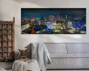 Panorama de la ligne d'horizon de Rotterdam