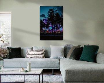 Miami by Night van Amber den Oudsten