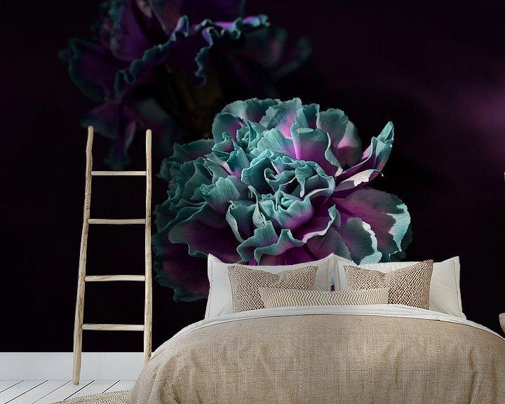 Sfeerimpressie behang: 'Carnations' van Roelina Holtrop