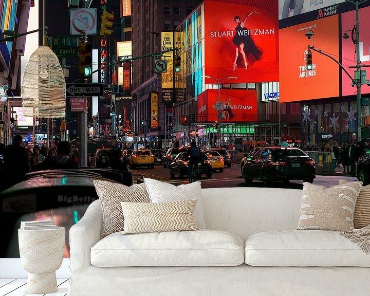 Beispiel fototapete: Times Square, New York City, Vereinigte Staaten von Joost Jongeneel