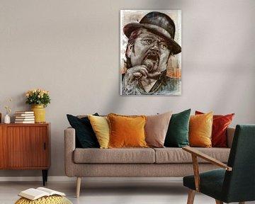 Andre Hazes portret van Jos Hoppenbrouwers