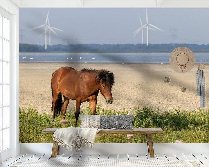 Beispiel fototapete: Freilaufendes Pferd ( Wildtiere ) von Anjella Buckens