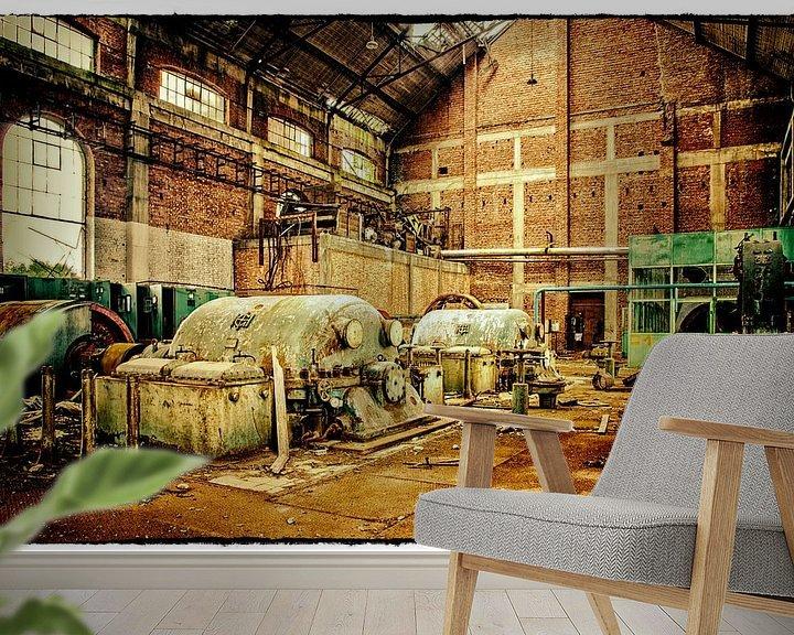 Beispiel fototapete: Verlassene Kompressorhalle Kohlebergwerk Attic (B) von Marianne Dirix