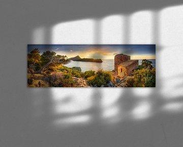 Mallorca met zijn oorspronkelijke kust bij Andratx bij zonsondergang van Fine Art Fotografie