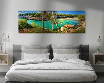 Uitzicht over de baai Cala Llombards op Mallorca van Fine Art Fotografie