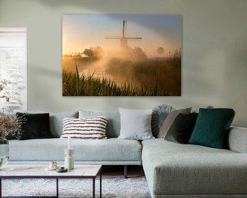 Mühle im Nebel