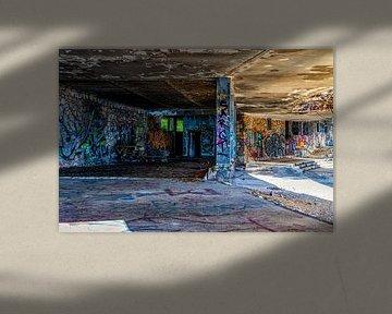 Graffiti an einer alten verlassenen Ruine von Tilo Grellmann | Photography