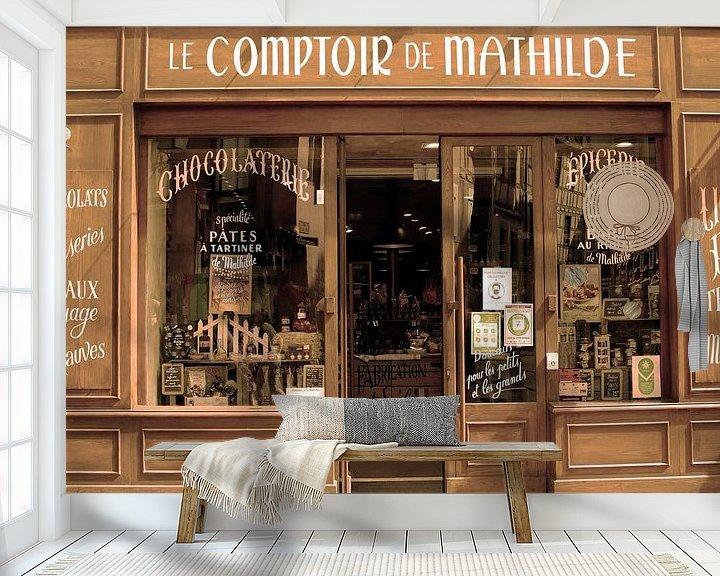 Beispiel fototapete: Französisches Geschäft von Inge Hogenbijl