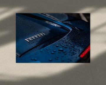 Nat geregende Ferrari 488 van Bas Fransen