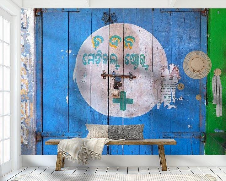 Beispiel fototapete: blaue Tür von Affect Fotografie