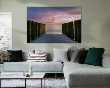 Zonsondergang in Zeeland van Ruwan Silva