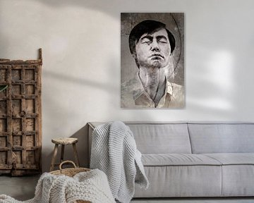 Asiatischer Mann von Marijke de Leeuw - Gabriëlse