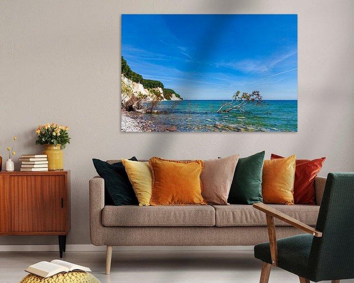 Beispiel: Kreidefelsen an der Ostseeküste auf der Insel Rügen von Rico Ködder