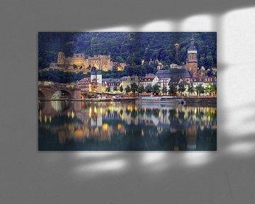 Heidelberg op de Neckar van Patrick Lohmüller
