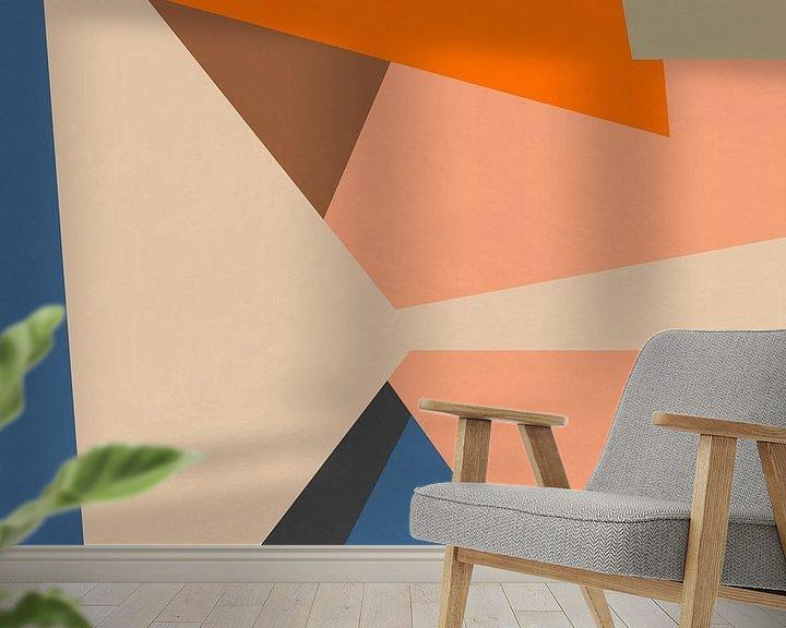 Sfeerimpressie behang: Abstracte samenstelling 1099 van Angel Estevez
