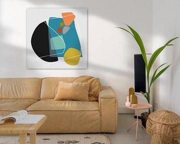 Abstracte samenstelling 1100 van Angel Estevez