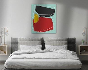 Abstracte samenstelling 1101 van Angel Estevez