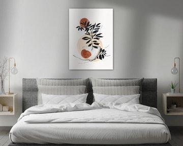 Wabi-sabi Kunst Met Abstracte Vormen van Diana van Tankeren