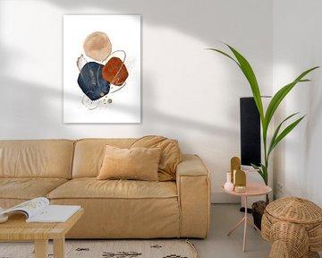 Moderne abstrakte Aquarellformen von Diana van Tankeren