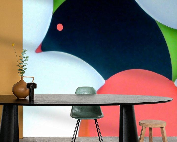 Sfeerimpressie behang: broedvogel van Peter Norden