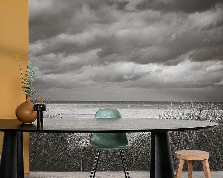 Sfeerimpressie behang: Zandvoort aan Zee van Nicky Kapel