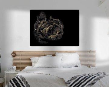 Rose, Sepia von Ruud Overes