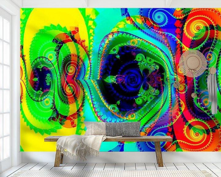 Sfeerimpressie behang: Fractal 2020 - #07 van Petra Dreiling-Schewe