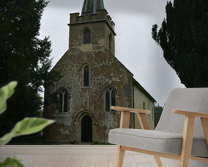 Sfeerimpressie behang: St Nicholas kerk, Steventon van Patricia Leeman