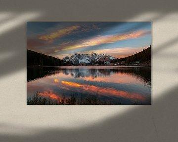 Sonnenaufgang am Lago di Misurina - Venetien - Italien