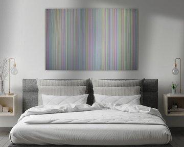 Foto eines zusammenbrechenden Monitors, gestreiftes Farbmuster in vielen Farben von Annavee