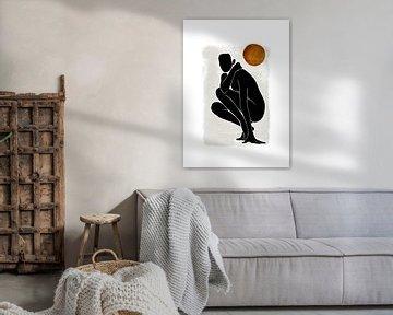 Vrouwelijk Naakt - Abstract Silhouet Naakte Vrouw van Diana van Tankeren
