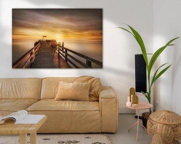 Boltenhagen-pier naar de zonsopgang van Voss Fine Art Fotografie