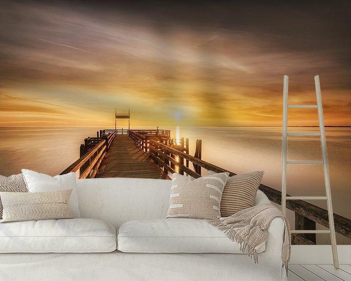 Beispiel fototapete: Boltenhagen Seebrücke zum Sonnenaufgang von Voss Fine Art Fotografie