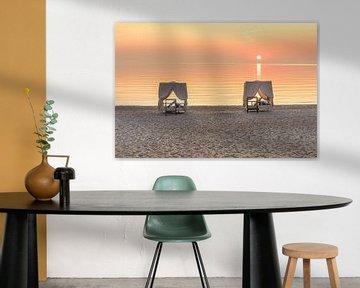 Daybeds am Hamptons Strand von Scharbeutz an der Ostsee von Fine Art Fotografie