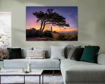 Morgenrot am Leuchtturm Dornbusch auf Hiddensee von Fine Art Fotografie