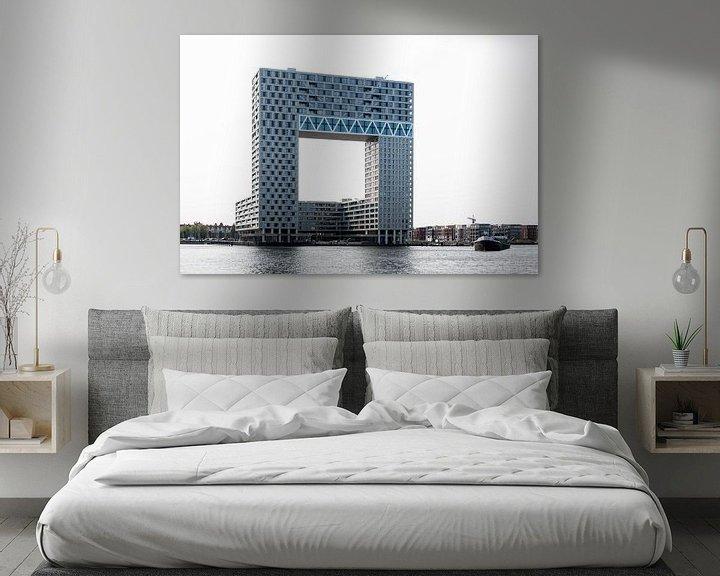 Sfeerimpressie: Appartementengebouw Pontsteiger aan het IJ in Amsterdam van Wim Stolwerk