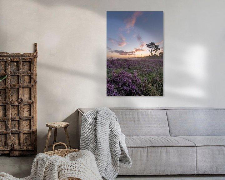 Sfeerimpressie: Heide in bloei van Jacco van Son