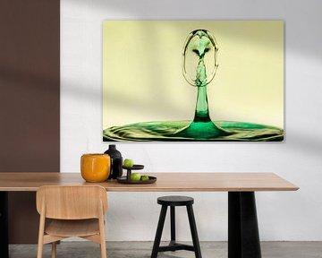 Waterdruppels/splash Uil van Tanja van Beuningen