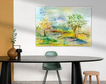 twee bomen van Claudia Gründler