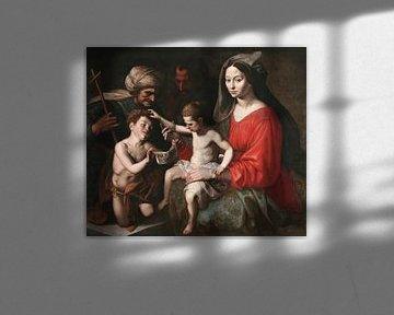 Die Heilige Familie mit den Heiligen Johannes dem Täufer und Elisabeth, Ambrosius Francken (I)