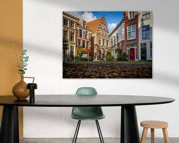 Gerecht met school waar Rembrandt les kreeg van Dirk van Egmond