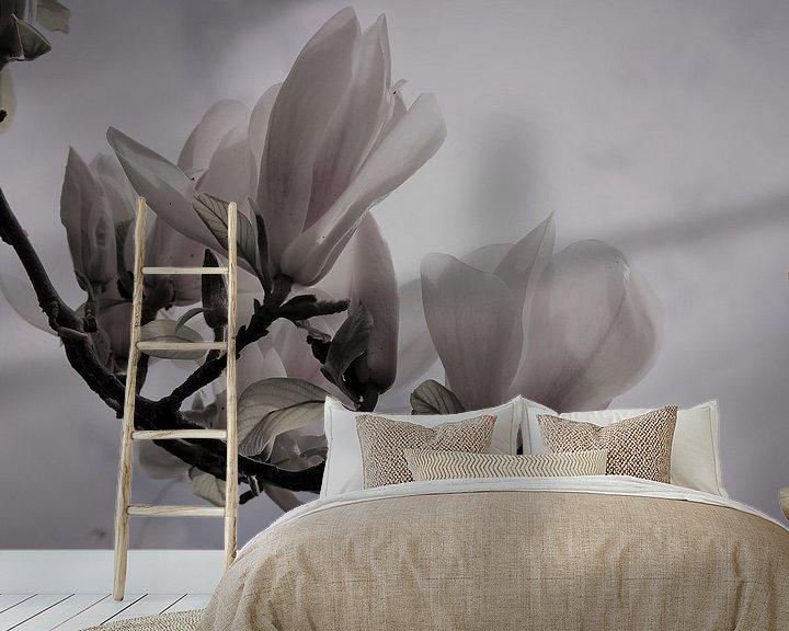 Impression: Gros plan sur le magnolia sur Loretta's Art