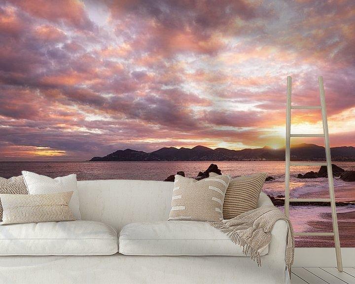 Beispiel fototapete: Sonnenuntergang in der Bucht von Cannes von Yannick Lefevre