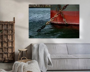 Schepen in de haven voor Anker. van scheepskijkerhavenfotografie