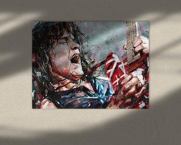 Gemälde von Eddie van Halen von Jos Hoppenbrouwers