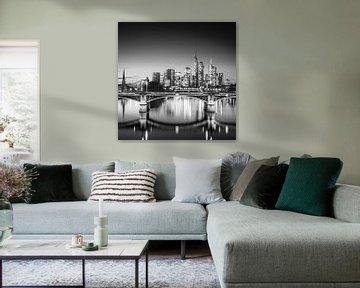 Frankfurtse skyline van Florian Schmidt