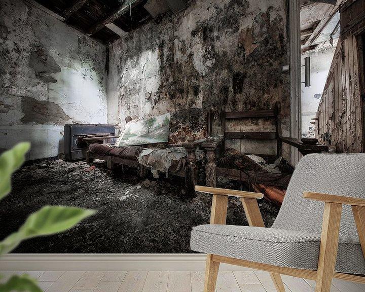 Sfeerimpressie behang: Verlaten plekken: Locatie Laundry Day van Steven Dijkshoorn