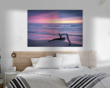 Zonsondergang op het weststrand van Martin Wasilewski