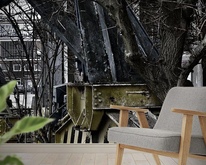 Beispiel fototapete: Crane von Edwin Stuiver